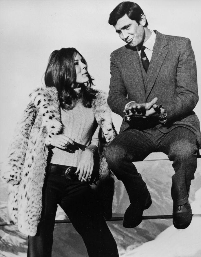 Diana Rigg et George Lazenby (James Bond)