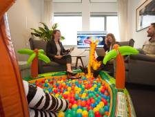 Dit bedrijf heeft een ballenbak voor de kinderen, kunnen ouders werken