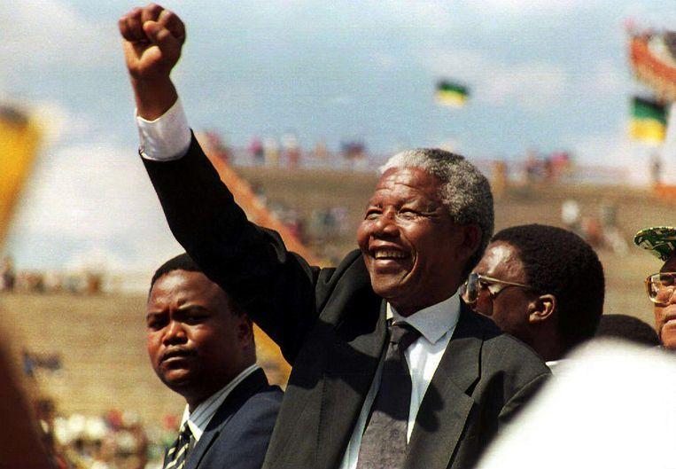 Eén van de grote leiders met een droom, Nelson Mandela. Beeld Mandela: Walter Dhladhla / Staf / Getty Images, 1995