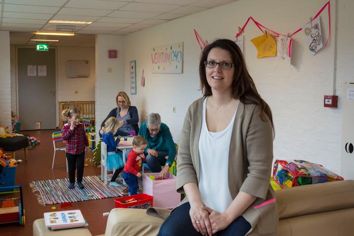 Werktuin040 wil uitbreiden Anja Wasser met kinderen en werkers op de achtergrond, Eindhoven