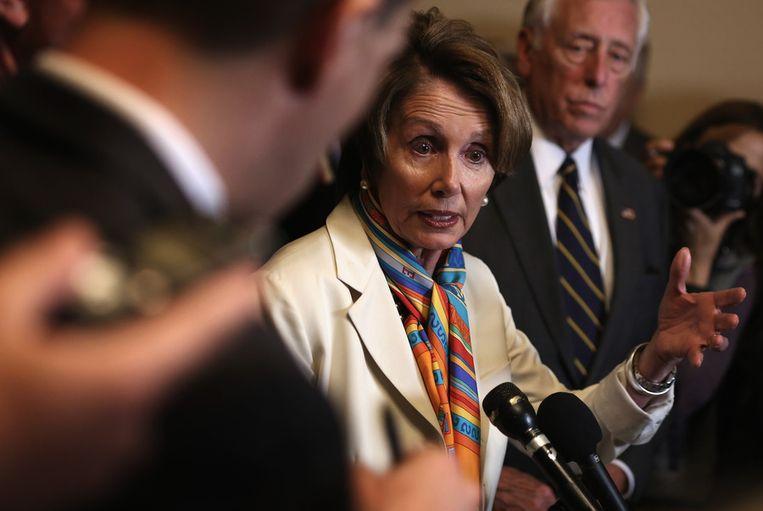 Nancy Pelosi, momenteel 'minorty leader' van de Democraten in het Huis van Afgevaardigden.