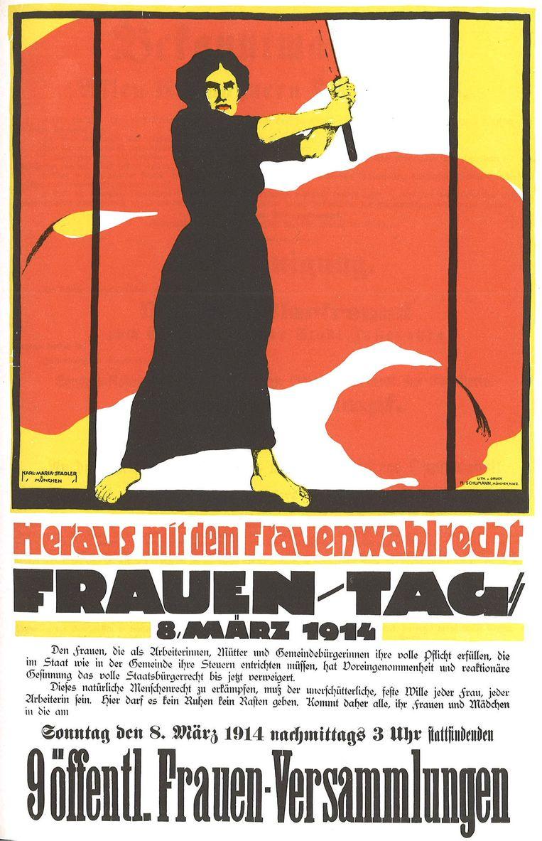Poster voor Internationale Vrouwendag uit 1814