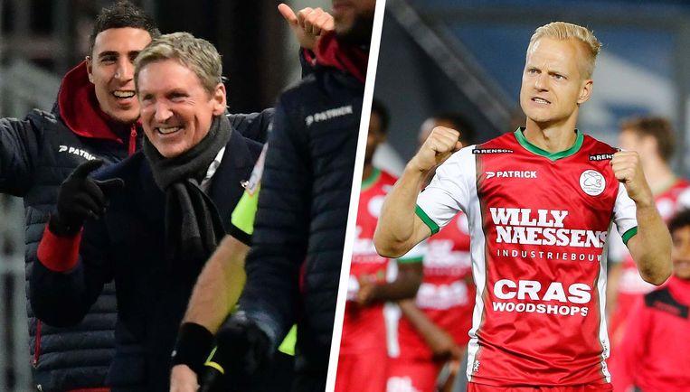 Francky Dury en Olivier Deschacht. Zetten zij hun jubileumwedstrijd kracht bij met een goed resultaat tegen Genk?