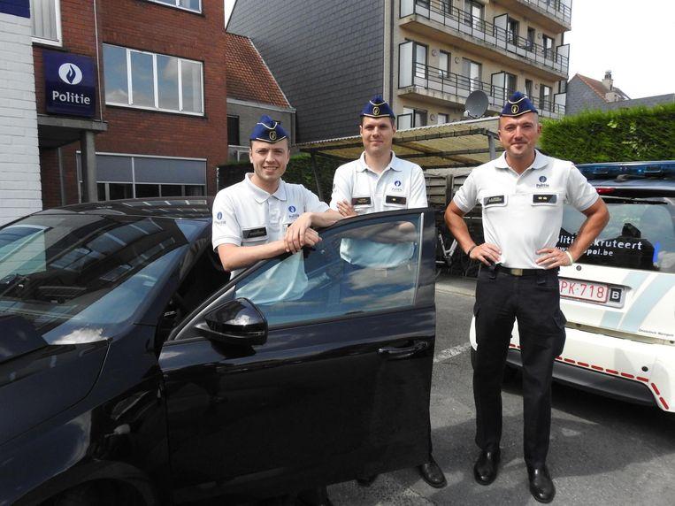Frederik Voet (links) en zijn opvolgers Tim D'Haene en Adriaan Vandycke.