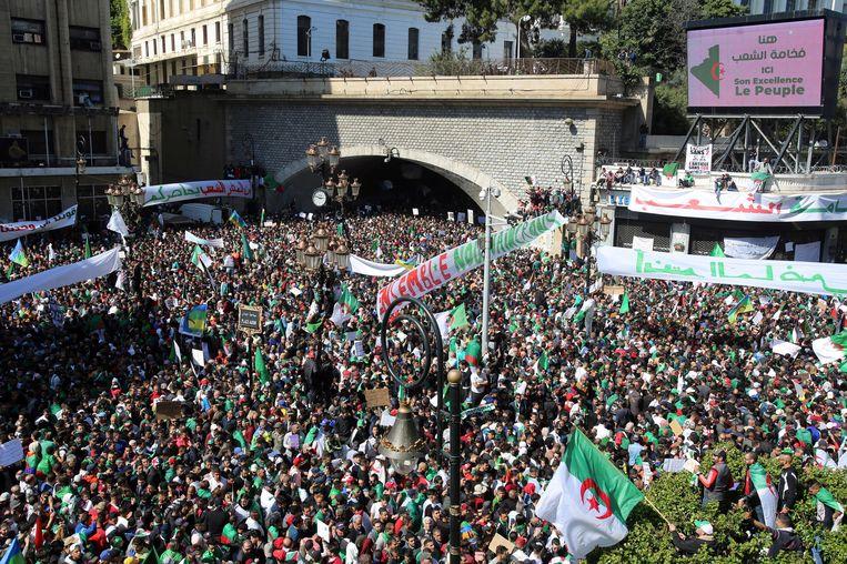 Straatprotest in Algiers