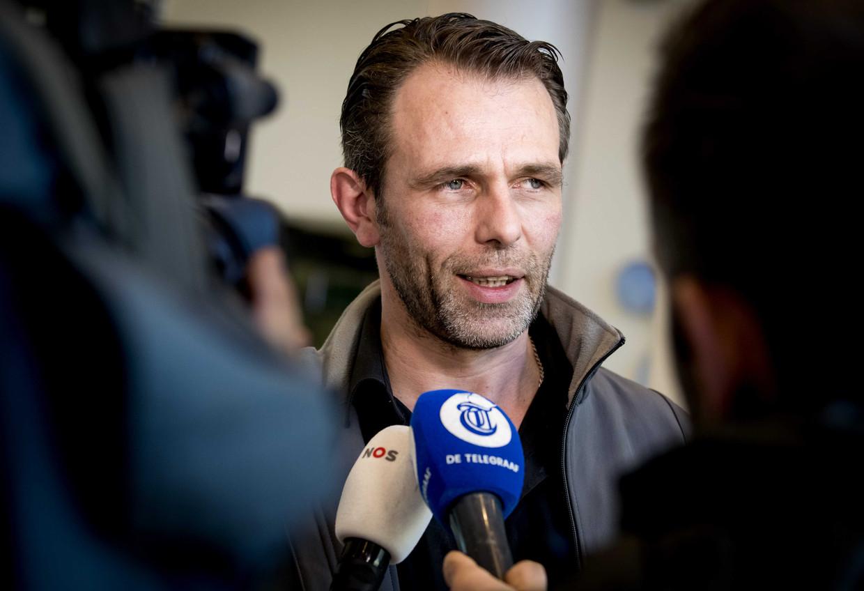 Jeroen van Maanen, bestuurslid Farmers Defence Force, staat de pers te woord na afloop van het gesprek over het stikstofbeleid met premier Mark Rutte en minister Carola Schouten (Landbouw, Natuur en Voedselkwaliteit).