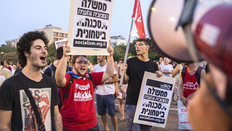 Een demonstratie in Tel Aviv.