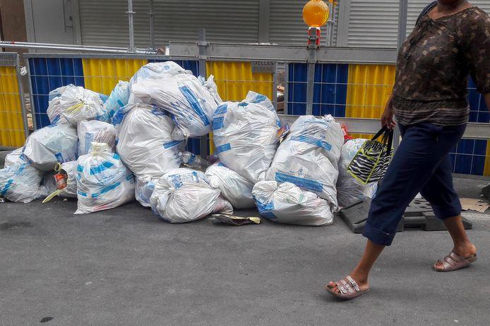 Afval in Matongé en Naamsepoort
