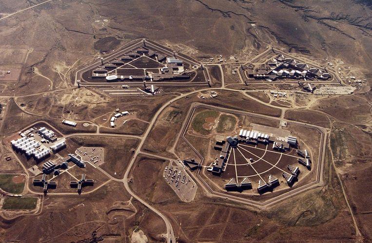 Een luchtfoto uit 2004 van de faciliteit.