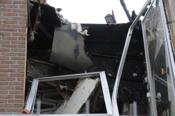 De brand liet een grote ravage achter.