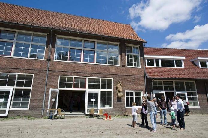 De stadstuin gaat grenzen aan het vroegere gebouw van basisschool De Stappen in Theresia.