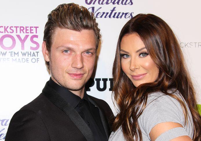 Nick Carter en zijn vrouw Lauren.