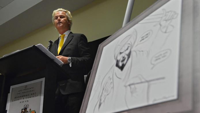 Wilders tijdens de bijeenkomst