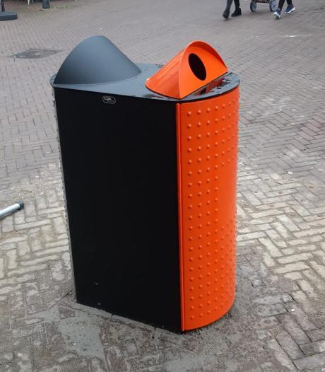 Nieuwe prullenbakken in centrum Oss helpen afval scheiden