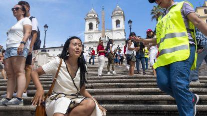 Verboden nog te zitten op de Spaanse Trappen in Rome