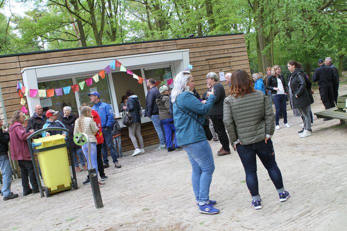 De kiosk bij de kinderboerderij bij de opening in 2018.