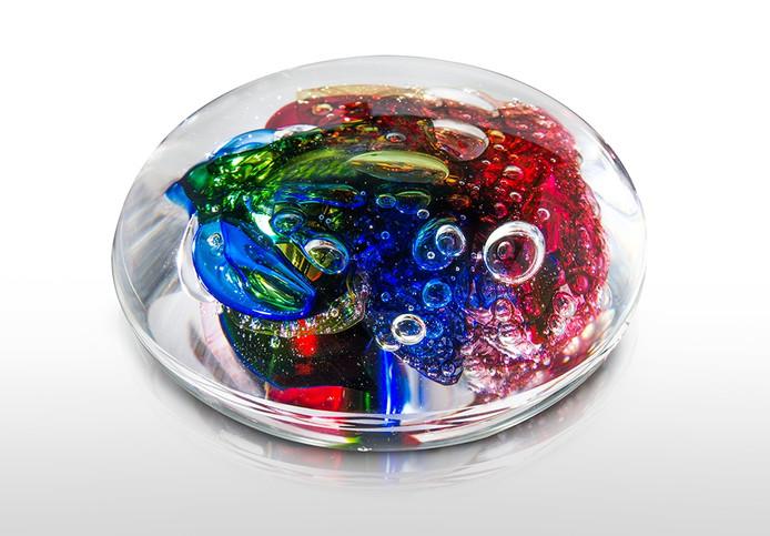 Dit is het kunstwerk dat bezoekers kunnen kopen bij galerie Kristal-Glas uit Leerdam.
