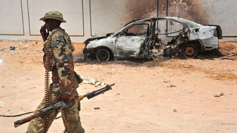 In de Somalische hoofdstad Mogadishu plegen islamitische jihadisten geregeld aanslagen. Beeld null