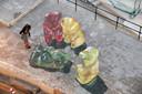 Op Malta maakte Keers in 2015 3D-gummybeertjes, hier vanuit de lucht gezien.