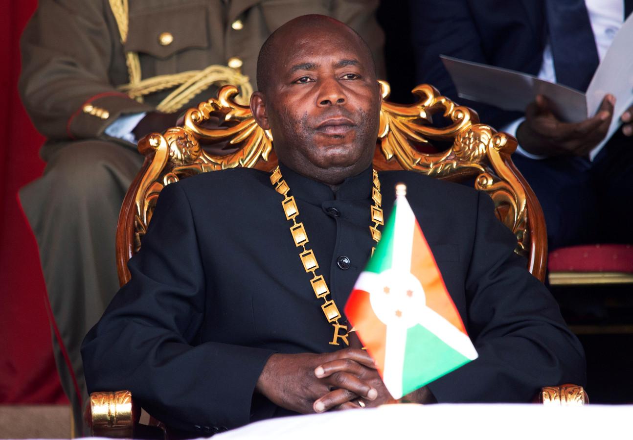 Evariste Ndayishimiye, president van Burundi.