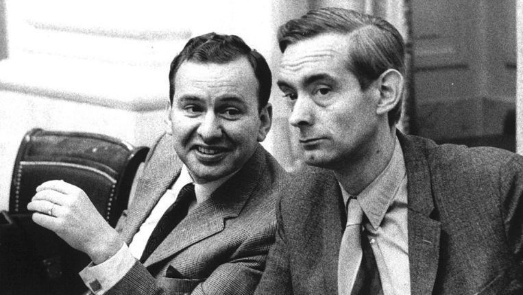 VVD-minister Langman (rechts) in 1971 Beeld Dick Coersen/ANP