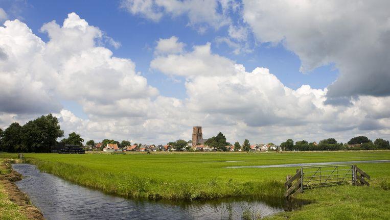 Bouwen langs de stadsrand, zoals hier bij Ransdorp, kan te verkiezen zijn boven steeds meer woningen in Almere Beeld anp