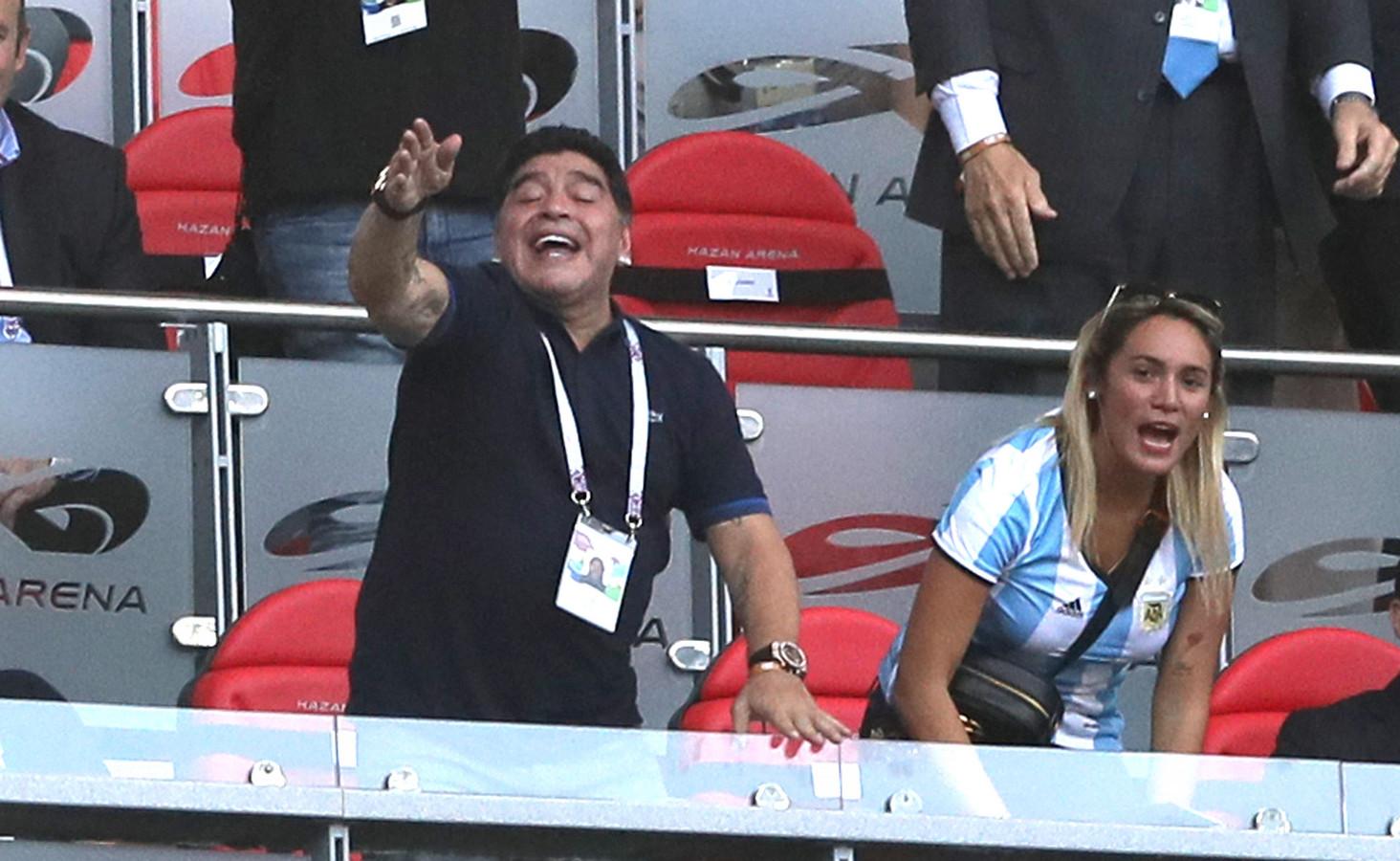 Maradona tijdens het WK.