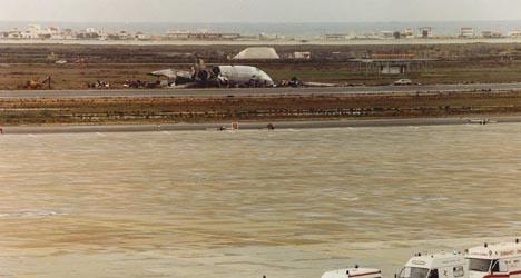 De brokstukken van het in 1992 verongelukte toestel. FOTO'S ANP