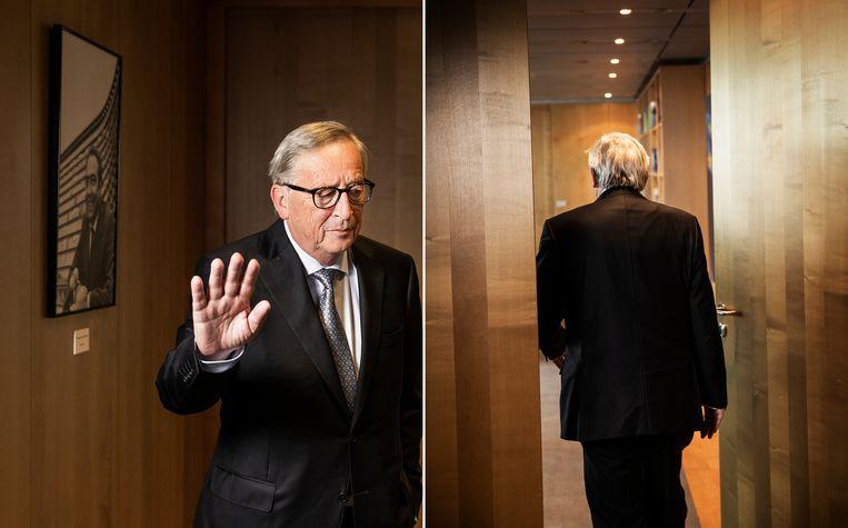 Jean-Claude Juncker: 'Mijn zorg is dat een deel van de traditionele partijen langzaam maar zeker net zo populistisch wordt als de populisten. Dat is een groot gevaar.' Beeld Jiri Büller