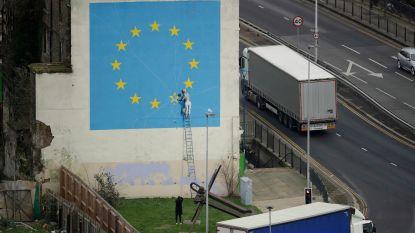 Banksy's muurschildering over de brexit op mysterieuze wijze verdwenen