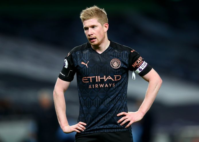 Manchester City's Kevin De Bruyne during the Premier League match at the Tottenham Hotspur Stadium, London.