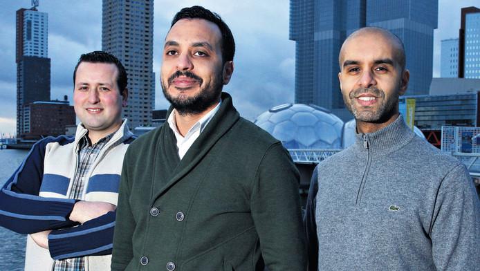 De oprichters van Nida, v.l.n.r. Aydin Peksert, Nourdin El Ouali en Mohamed Talbi.