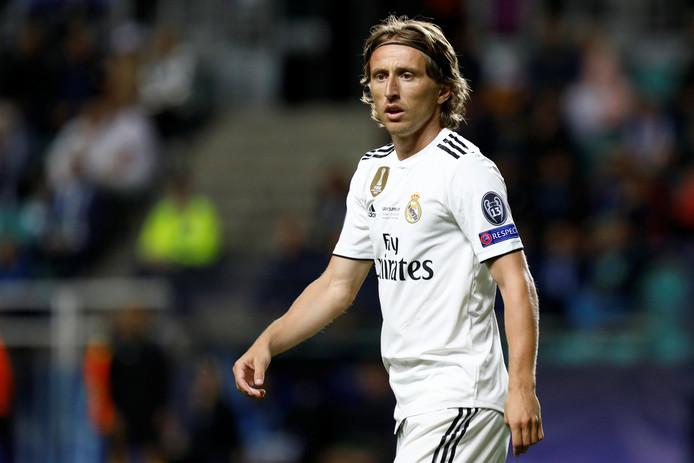 Modric speelde woensdag met Real de Super Cup-finale tegen Atlético Madrid.