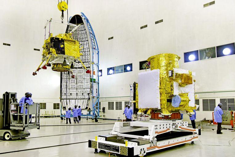 De Chandrayaan-2 wordt zondag 14 juli gelanceerd. Twee maanden later, op 6 of 7 september, zal het ruimtetuig landen op de maan.
