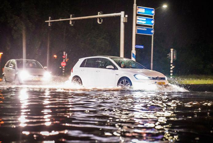 Ondergelopen straten in Eindhoven