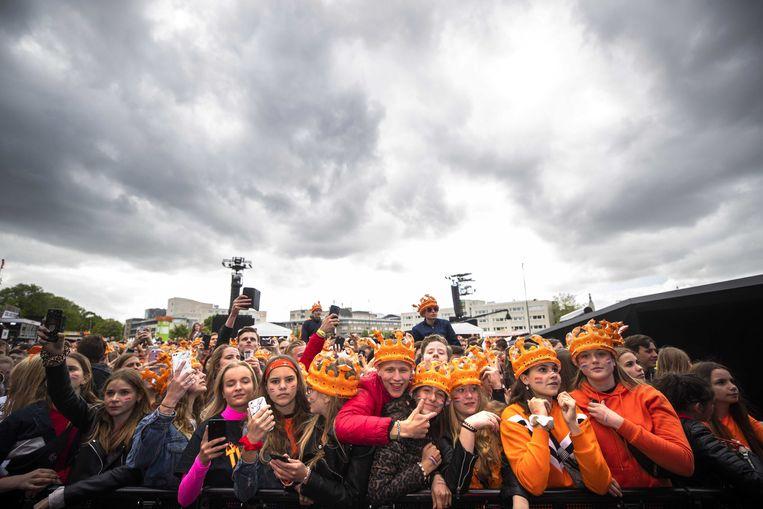 538 Koningsdag in Breda. Nationale en internationale artiesten vieren samen met de dj's van Radio 538 de verjaardag van koning Willem-Alexander.  Beeld ANP