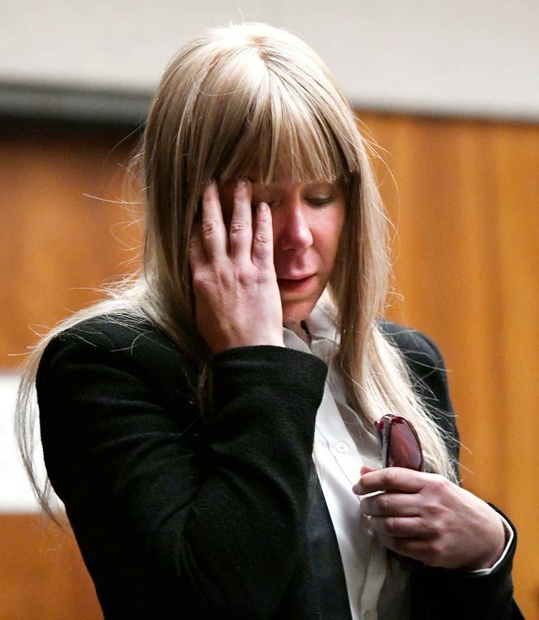Alexandria Duval bij het verlaten van de rechtszaal.