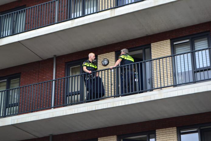 De politie was zondagmiddag aanwezig in Huissen
