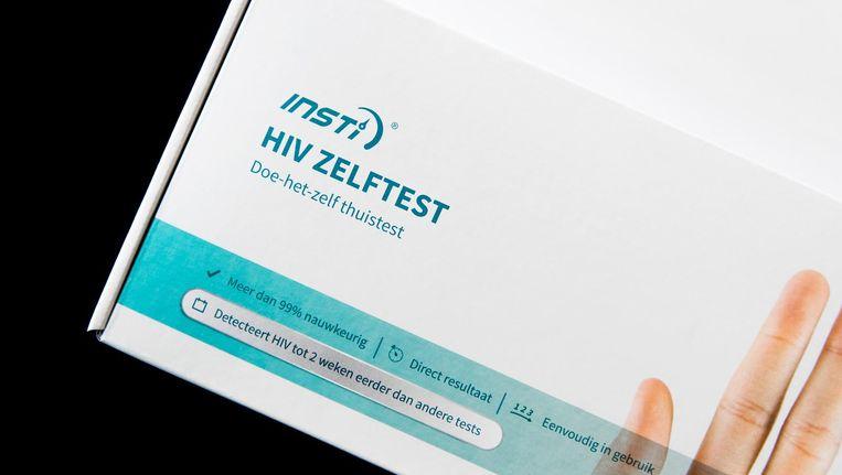 Een hiv-thuistest bij een apotheek. Beeld anp