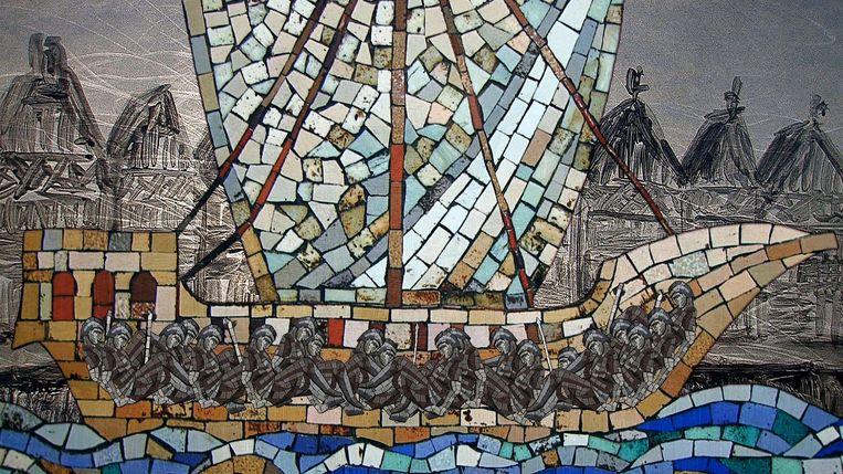 De Kennemers en Waterlanders verstoppen zich in de Gysbreght in een schip op het IJ en dringen zo Amsterdam binnen Beeld Jacqueline Kooter
