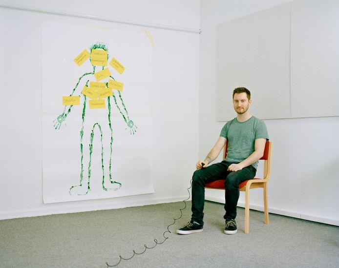 Een van de elf geïnterviewde mannen met een eetstoornis uit het project A Story To Tell.