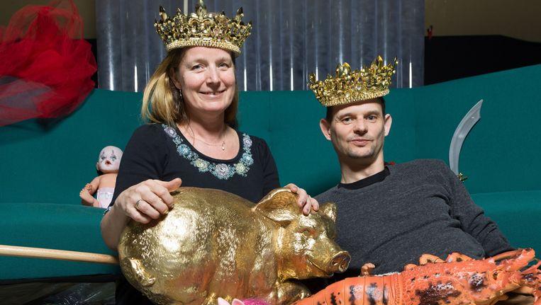 Gillis Biesheuvel en Manja Topper als de hoofdpersonen in Gerardjan Rijnders' MACBAIN, gebaseerd op de levensverhalen van de stellen Macbeth en Lady Macbeth en Kurt Cobain en Courtney Love. Beeld null