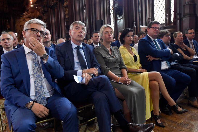 Feestdag van de Vlaamse Gemeenschap met o.a. voorzitter van het Vlaams Parlement Kris Van Dijck (N-VA).