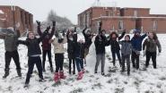 Sneeuwpret op de speelplaats: leerlingen Sint-Vincentiusschool leven zich uit