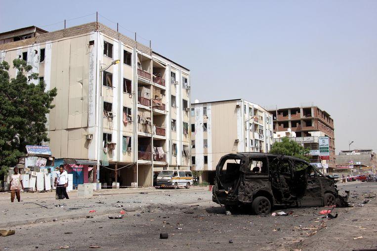 De gevechten in Jemen duren al vijf jaar. Beeld EPA