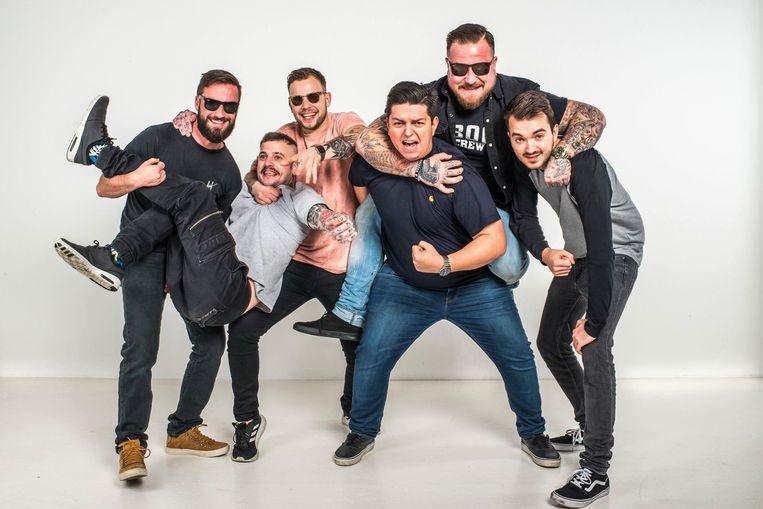 Jeroen Theys, Simon Leleu, Tom Debels, Tomas Nagy, Louis Gürke en Wouter Sadonis