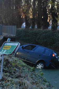 Voorrang verlenen gaat fout: auto rijdt het water in bij Hazerswoude