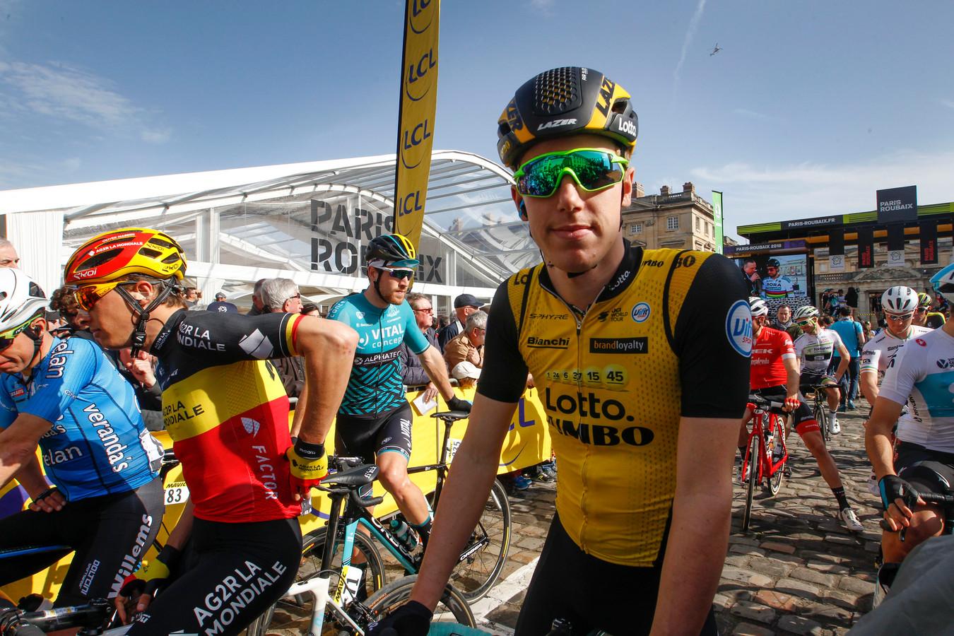 Pascal Eenkhoorn doet met de besten mee tijdens de Tour of Britain.