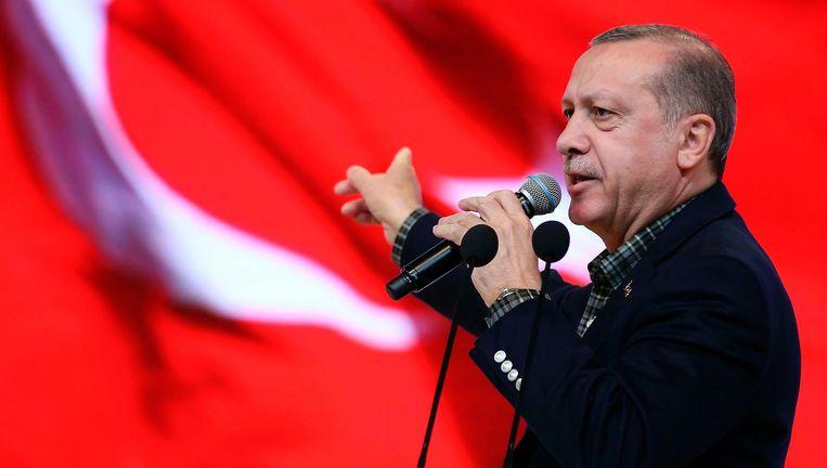'President Erdogan vergeleek het Duitsland van nu met de nazistaat. Grotere belediging is niet denkbaar.' Beeld afp