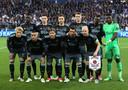De basiself van Ajax voor de halve finale van de Europa League tegen Olympique Lyon op 11 mei 2017.